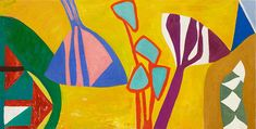 Gillian Ayres Dawn-bright Lawn, 2013 Oil on canvas 48 × 96 in 122 × 244 cm Oil Painting Flowers, Abstract Flowers, Abstract Painters, London Art, Art Abstrait, Mosaic Art, Art And Architecture, Painting Inspiration, Flower Art