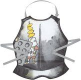 Sir Bakealot and His Band of Merry Cooks coat of armour apron is perfect for keeping kids clothes clean whilst painting or baking cookies in the kitchen. Made from 100% cotton with a PVC coating to wipe clean and an adjstable neck strap to fit most kids.