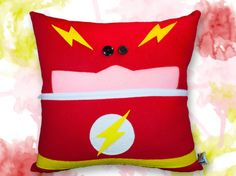 The Flash Pillow  Home Decor-Throw Pillow-Travel by M8MadeDesigns