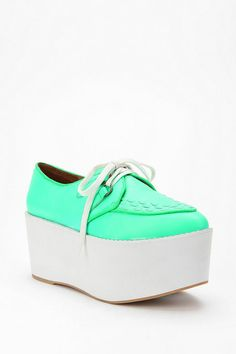 Ridiculous, but mint is going to be everywhere.  Jeffery Campbell Bundy.