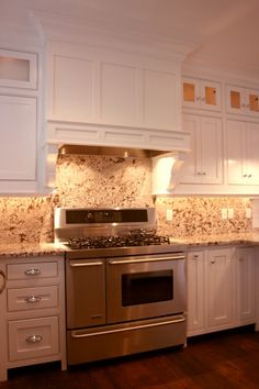 Love this stove - and the cabinets