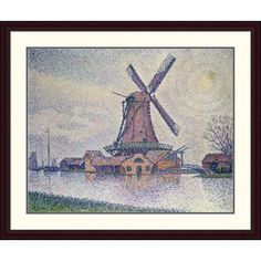 Global Gallery 'Moulin D'Edam' by Paul Signac Framed Painting Print Size: