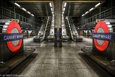 Eye to Eye - London Underground - Canary Wharf Underground Station, London, England
