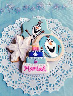 Disney frozen cookies party ideas