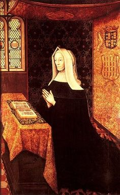 Lady Margaret Beaufort  (31 May 1443 or 1441 – 29 June 1509) She was born at Bletsoe, birthed Henry of Richmond (later Henry VII) at age (roughly) thirteen. Married four times. During her very turbulent life she became an astute political survivor, and lived just long enough to see her grandson, Henry VIII crowned King.