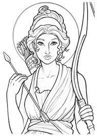 Artemis by Amy Clark Colouring Pages, Adult Coloring Pages, Coloring Books, Greek And Roman Mythology, Greek Gods, Artimis Goddess, Goddess Tattoo, Arte Sketchbook, Book Sculpture