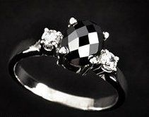 Black Diamond Cushion Cut Ring | Maui Black Diamond Jewelers