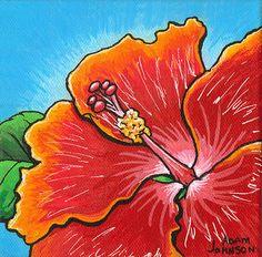 hibiscus flower painting pop art - Google Search
