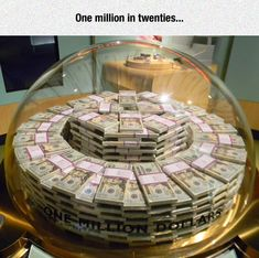 One Million Dollars At The Money Museum in Chicago