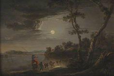 Moonlight Scene by Aert van der Neer (copy after)