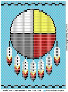 free beading patterns | free-beading-pattern-medicine-bag-wheel