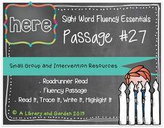 Sight Word Fluency Passage #27: HERE