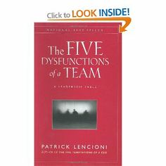 A must read for all who work with groups and not only within organizations. Discover the 5 level pyramid of team dysfunctions and apply in your surroundings.