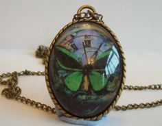 Checkout this amazing product Handcrafted Antique Bronze Glass Pendant Butterfly by DBHjewellery, $12.95 at Shopintoit