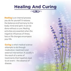 Difference between HEALING and CURING