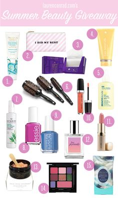 LaurenConrad.com's Summer Beauty Giveaway! @fillinblank loved this. Summer is Primetime for natural beauty