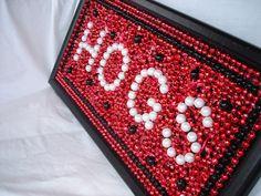 Custom Order Framed Mardi Gras Bead Art Arkansas