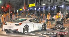 Ferrari 458 Italia crashed in Taipei, Taiwan