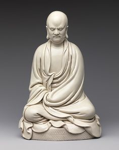Figure of Bodhidharma, Ming dynasty (1368–1644), 17th century China Porcelain (Dehua ware)