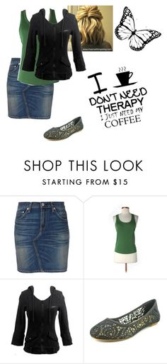 """""""green and black"""" by modestylady ❤ liked on Polyvore featuring rag & bone, Club Monaco, Lucky Brand and Therapy"""