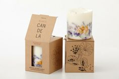 wild flowers candle from www.go-green.de