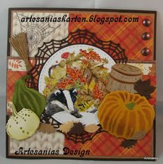 Autumn Cards, Marianne Design, Scrap, Photo And Video, Painting, Autumn, Cards, Animaux, Fall