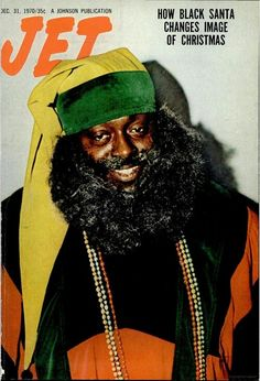"""A MERRY BLACK CHRISTMAS SEASON FROM JET MAGAZINE!  Somebody forgot to tellJetmagazine that Santa is white! Long before FOX News declared it a """"historical fact"""" that Santa Claus was a Caucasian man,Jetwas running an annualblack Santacover, featuring noted music and comedy celebrities. Here are 10 of our favorites, with cover appearances byMarvin Gaye, James Brown, Sherman Hemsley, Esther Rolle, Bill Cosby Richard Pryor, and more."""