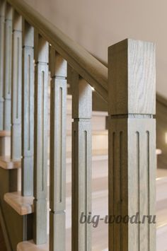 Лестница. Массив дуба, дерево, дерево в интерьере, массив, изделия из дерева