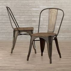 Found it at Wayfair - Fortuna Side Chair Dining Chair Set, Dining Room, Copper Color, Main Colors, Side Chairs, Industrial Style, Natural Wood, Solid Wood, New Homes