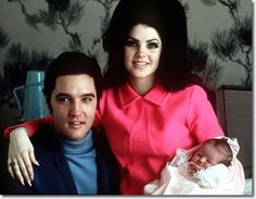 """Lisa Marie Presley was born on February 1, 1968, to Elvis Presley, the king of rock 'n' roll, and his wife Priscilla. Here the new family posed for a photograph in a room at Baptist Hospital in Memphis, Tenn. Today marks 30 years since Lisa Marie's father passed away at Graceland, the family's Memphis fortress. Lisa Marie inherited her father's eyes, lips and fame and she was a celebrity from the moment she was born. Priscilla once said Elvis looked """"petrified"""" the first time he held his…"""