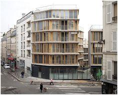 20 logements sociaux, Babled-Nouvet-Reynaud Architectes (BNR), 2013. Rue des Orteaux, Paris. | Flickr : partage de photos !