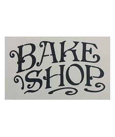 BAKERY Two-Sided Distressed Black and White Tin Sign