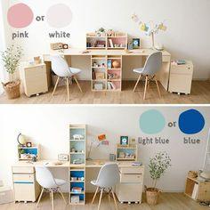 Study Room Design, Study Room Decor, Kids Room Design, Diy Room Decor, Bedroom Decor, Home Decor, Girl Bedroom Designs, Room Ideas Bedroom, Girls Bedroom