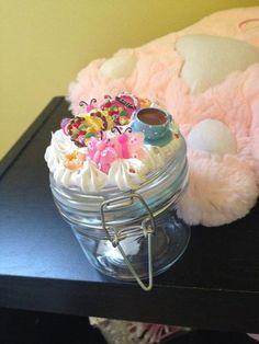 Decoden Jar by KustomKawaiiByKara on Etsy, $10.00 Diy Birthday Table, Birthday Crafts, Ice Crafts, Candy Crafts, Mason Jar Crafts, Mason Jars, Kawaii Crafts, Jar Art, Painted Jars