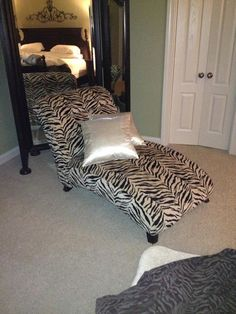 Zebra print Chaise Lounger in BuJas_Stuff's Garage Sale in Jonesboro , AR for $350. Brand new special ordered Zebra print Chaise Lounger purchased at Gambles Home furniture Jonesboro Arkansas. Original cost 625.