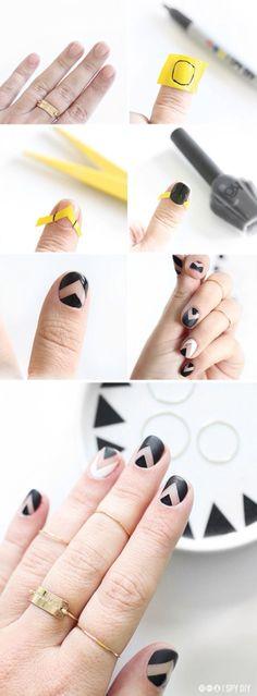 Geometric mails DIY