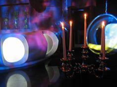 Mezzanine Bar Area. Elevate Nightclub, New Delhi, India. Interiors by Igloo Design. Delhi India, New Delhi, Design Projects, Tea Lights, Birthday Candles, Bar, Creative, Beautiful, Goa India