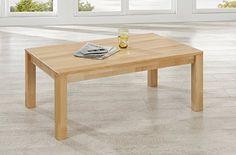 Couchtisch Carlo Buche massiv geölt 110x70 cm Tisch Beisteltisch Sofa Coutsch