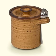 Coffee Canister by Mountain Arts Pottery - shown here in Mocha Glaze