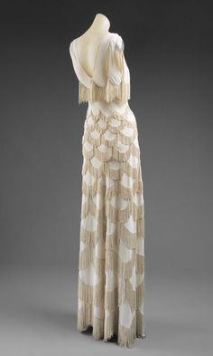 Evening gown.  Madeleine Vionnet, Paris.  ca 1938  Culture: French  Medium: rayon