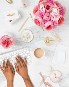 Elevate your brand with styled stock photography for creative business owners. Take off during the July weekend sale. Pink on Marble Desk Collection Marble Desk, Pink Marble, Photo Pour Instagram, Instagram Posts, Insta Posts, Image Tumblr, Desktop Images, Foto Casual, Flat Lay Photography