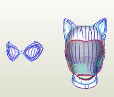 Cat Woman - Mask - Foam Pepakura File on Onekura. Make your own costumes and accessories.