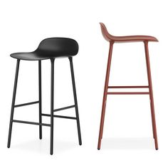 Form Bar/Counter Stool: Steel - A+R Store