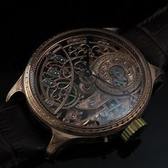 1930's Le COULTRE & Co Vintage GOLD SKELETON Watch QUALITY ENGRAVED