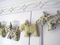 Scottie Dog Garland/ Pretty Pastels And Floral by RubyRedcrafts on Etsy