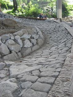 pump track - stone berms