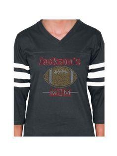 $27.90 Radiant Football Mom Ladies Football Tee