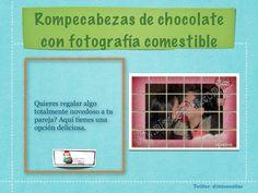 Rompecabezas de chocolate con fotografía comestible
