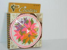 Perkins Vintage Bright Floral Paper Coasters Package