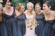 Convertible Bridesmaid Dress - Jersey Infinity Wrap Style. $83.00, via Etsy.